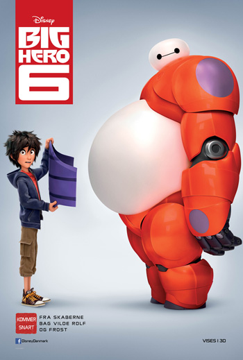 Big Hero 6 - 3D m. Dansk Tale