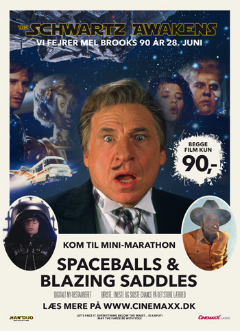 Spaceballs + Blazing Saddles (u/undertekster)